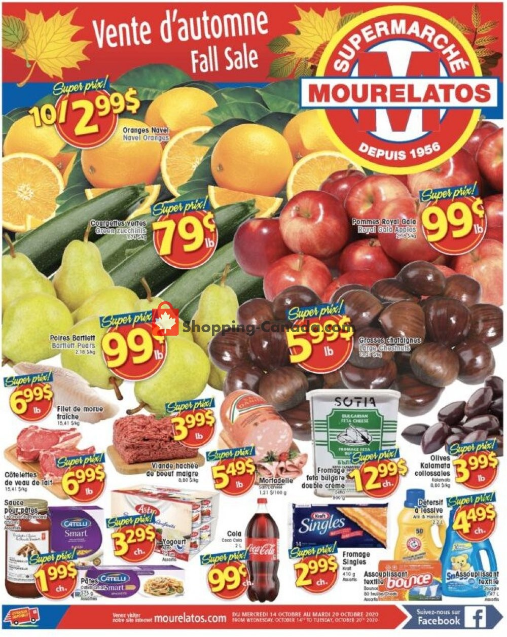 Flyer Mourelatos Canada - from Wednesday October 14, 2020 to Tuesday October 20, 2020