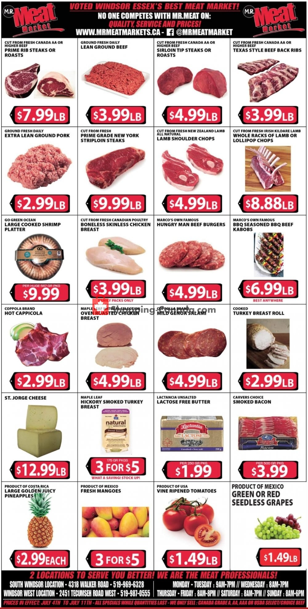 Flyer M.R. Meat Market Canada - from Saturday July 4, 2020 to Saturday July 11, 2020