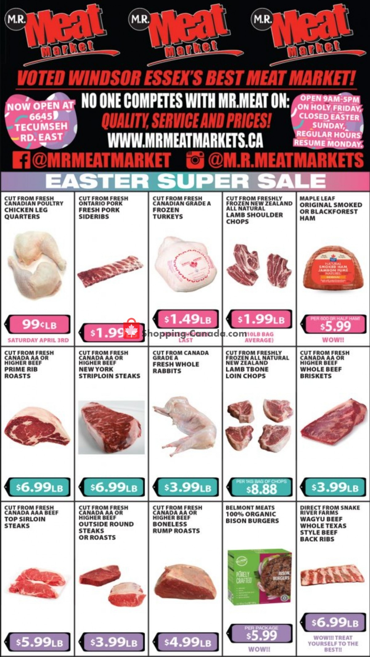 Flyer M.R. Meat Market Canada - from Saturday April 3, 2021 to Saturday April 10, 2021