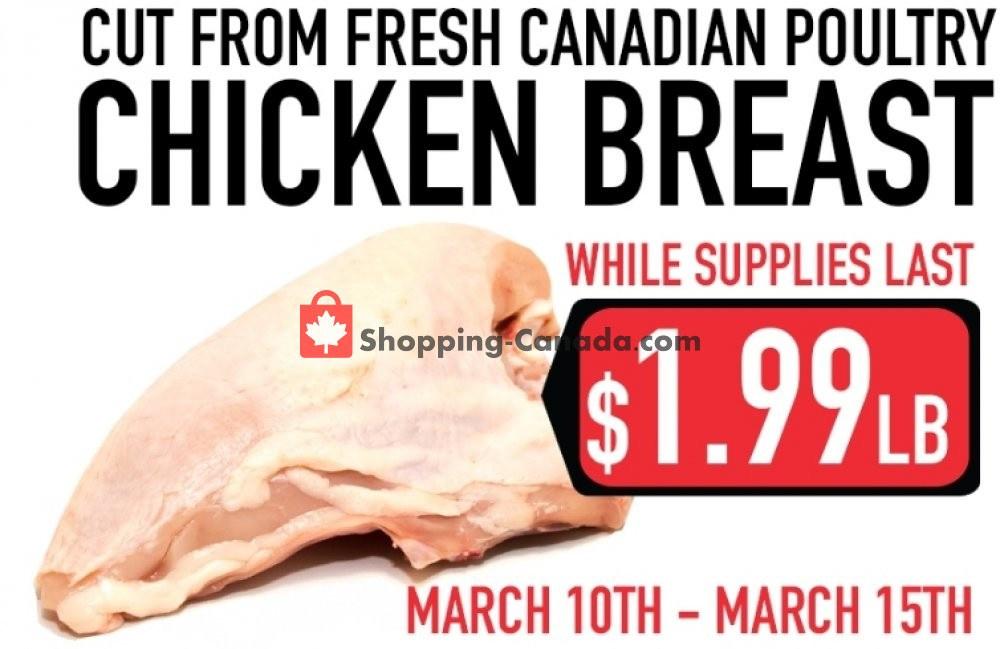 Flyer M.R. Meat Market Canada - from Sunday March 10, 2019 to Friday March 15, 2019