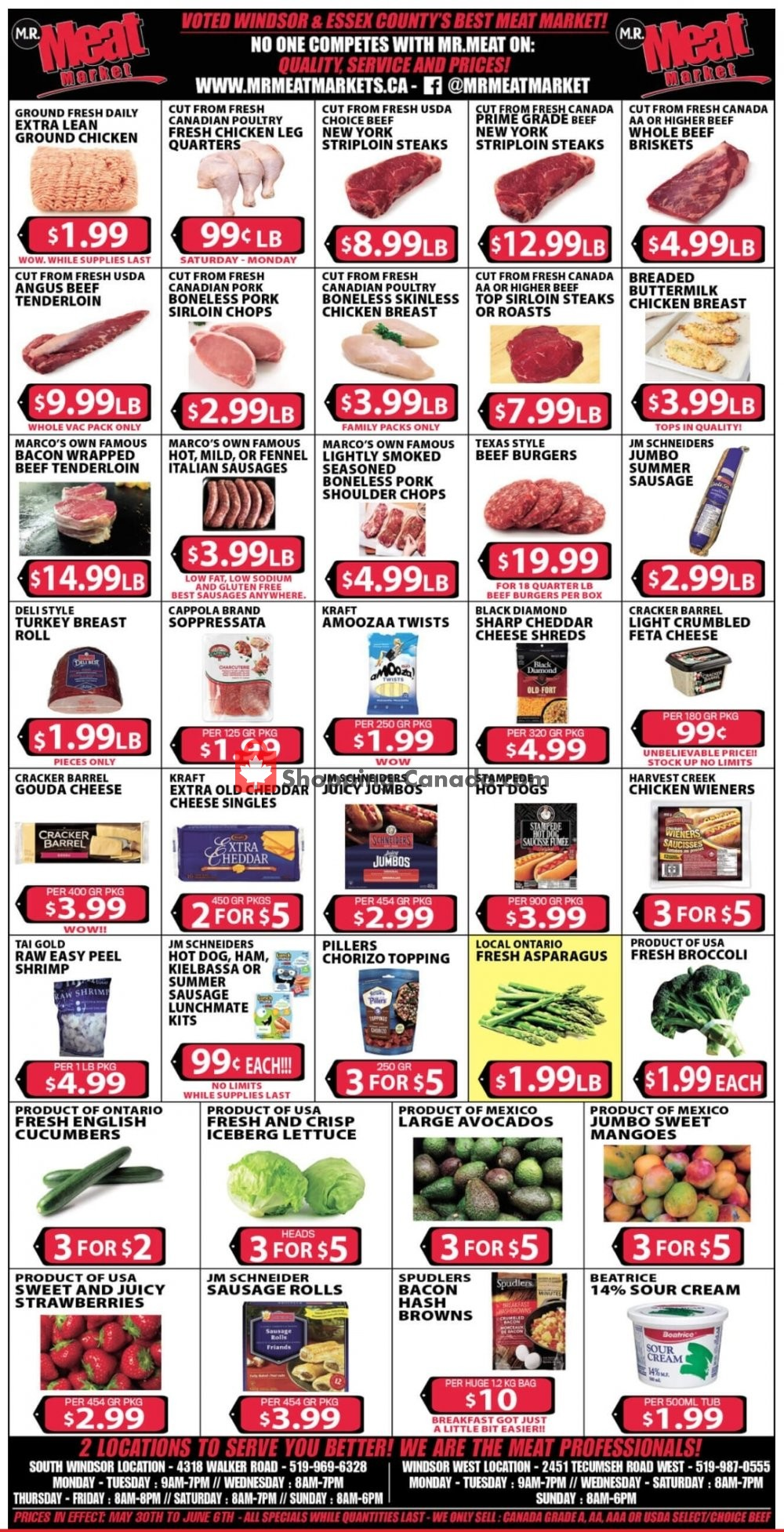 Flyer M.R. Meat Market Canada - from Saturday May 30, 2020 to Saturday June 6, 2020