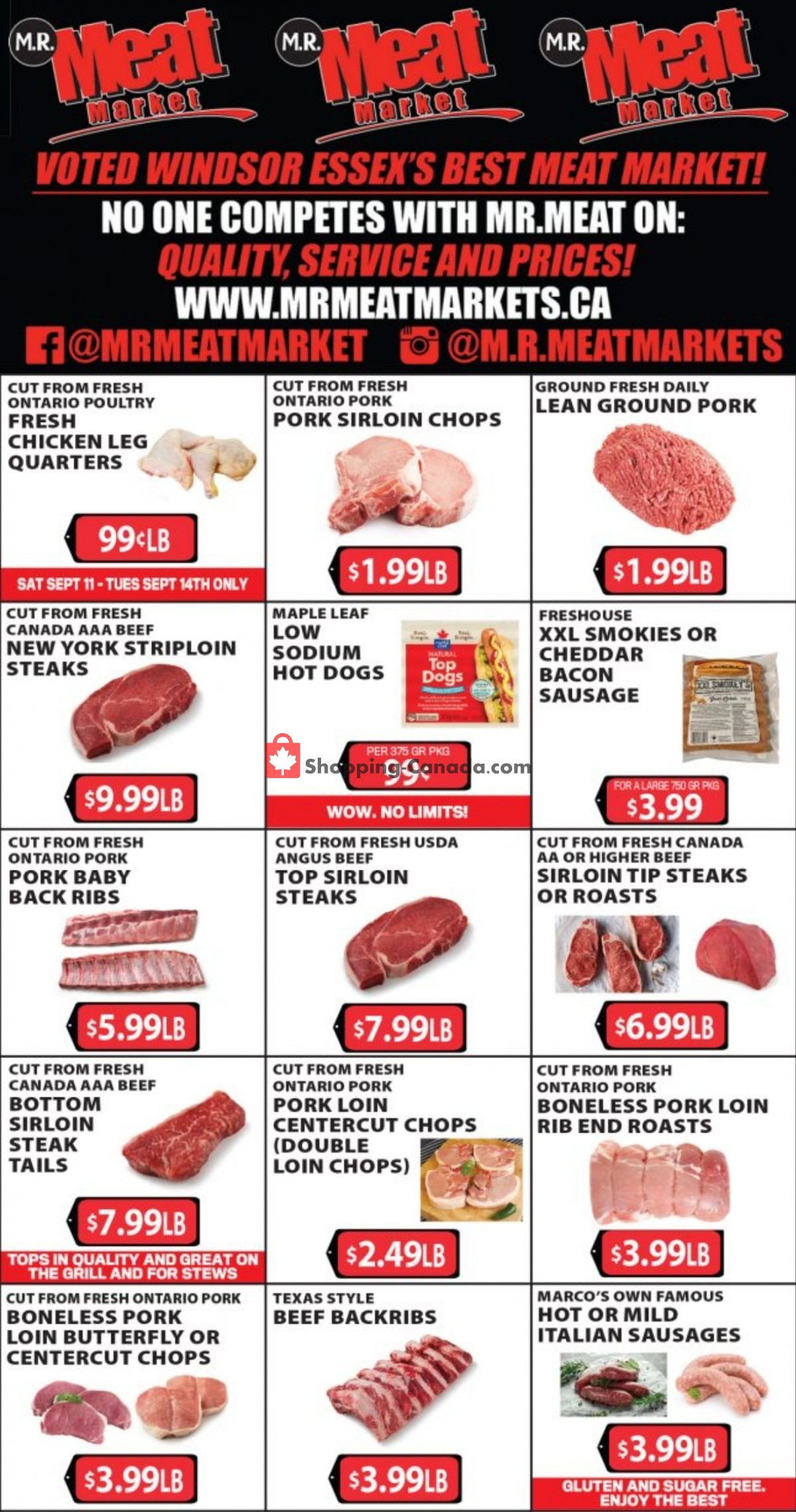 Flyer M.R. Meat Market Canada - from Saturday September 11, 2021 to Saturday September 18, 2021
