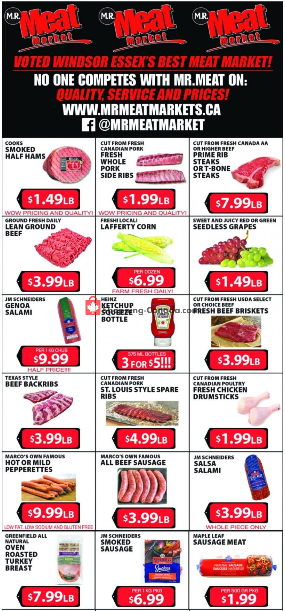 Flyer M.R. Meat Market Canada - from Saturday July 25, 2020 to Saturday August 1, 2020
