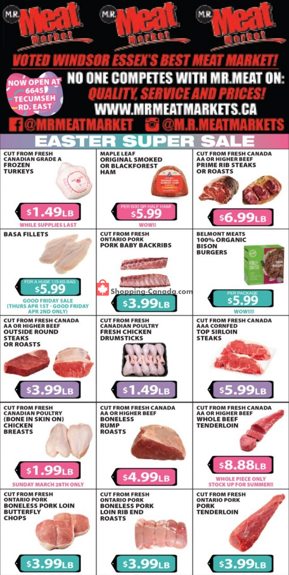 Flyer M.R. Meat Market Canada - from Saturday March 27, 2021 to Saturday April 3, 2021
