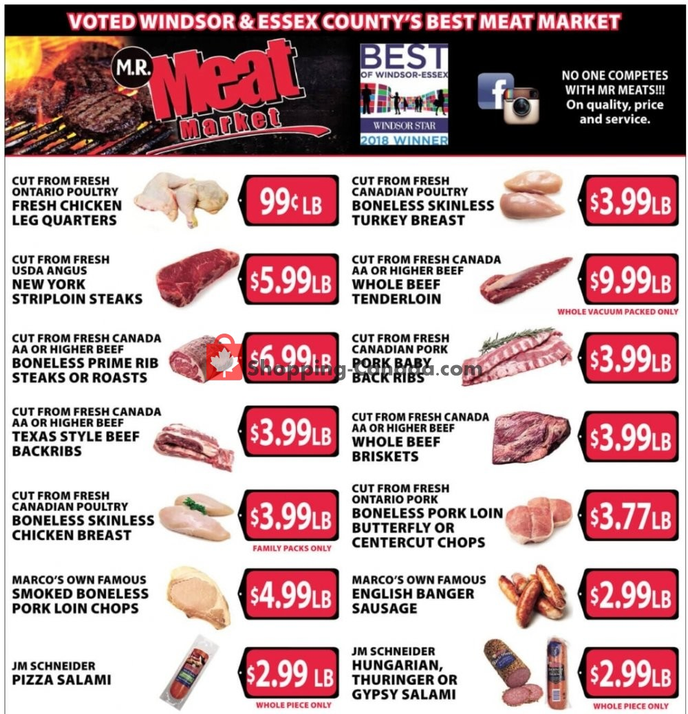 Flyer M.R. Meat Market Canada - from Saturday April 25, 2020 to Saturday May 2, 2020
