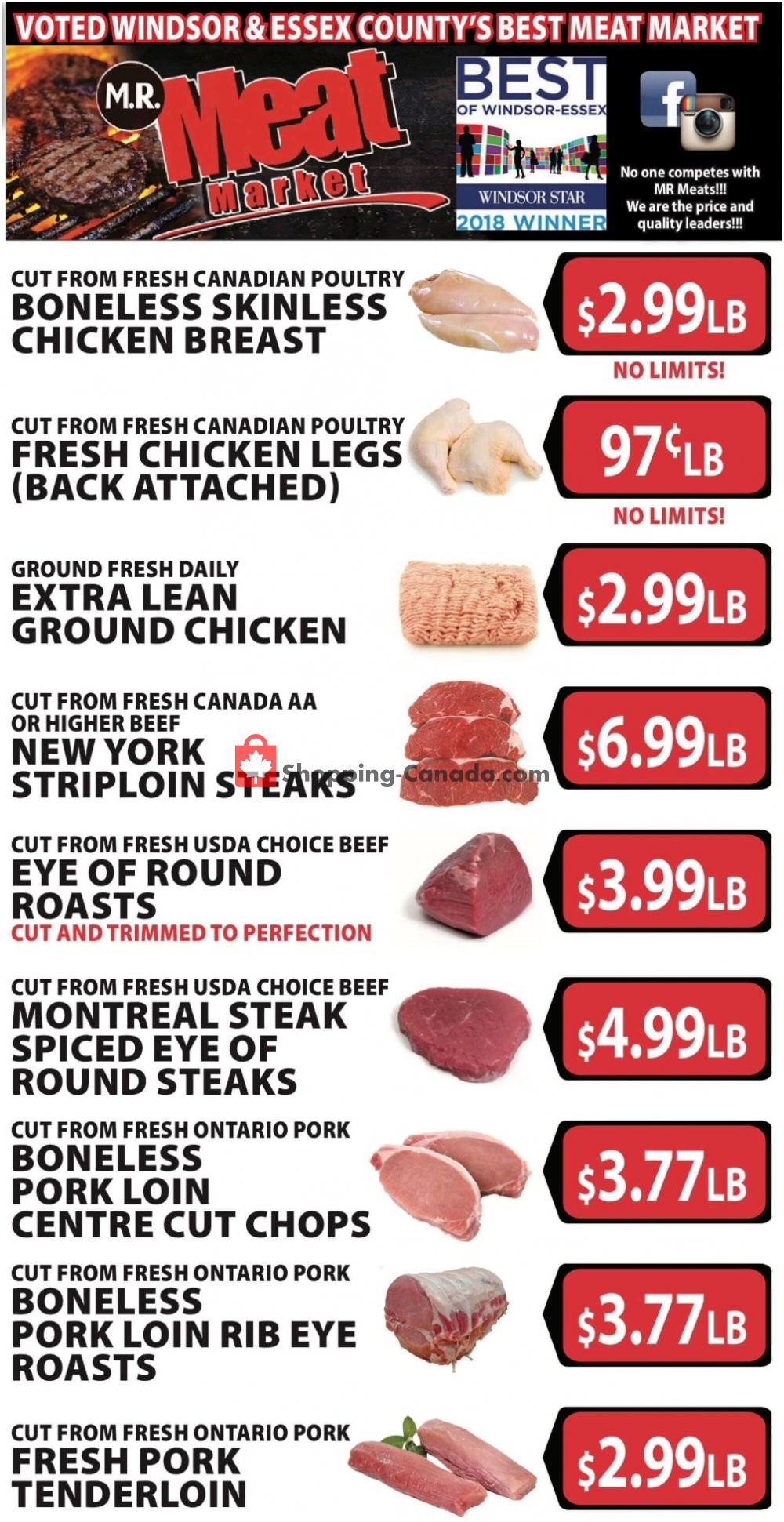 Flyer M.R. Meat Market Canada - from Saturday February 16, 2019 to Saturday February 23, 2019