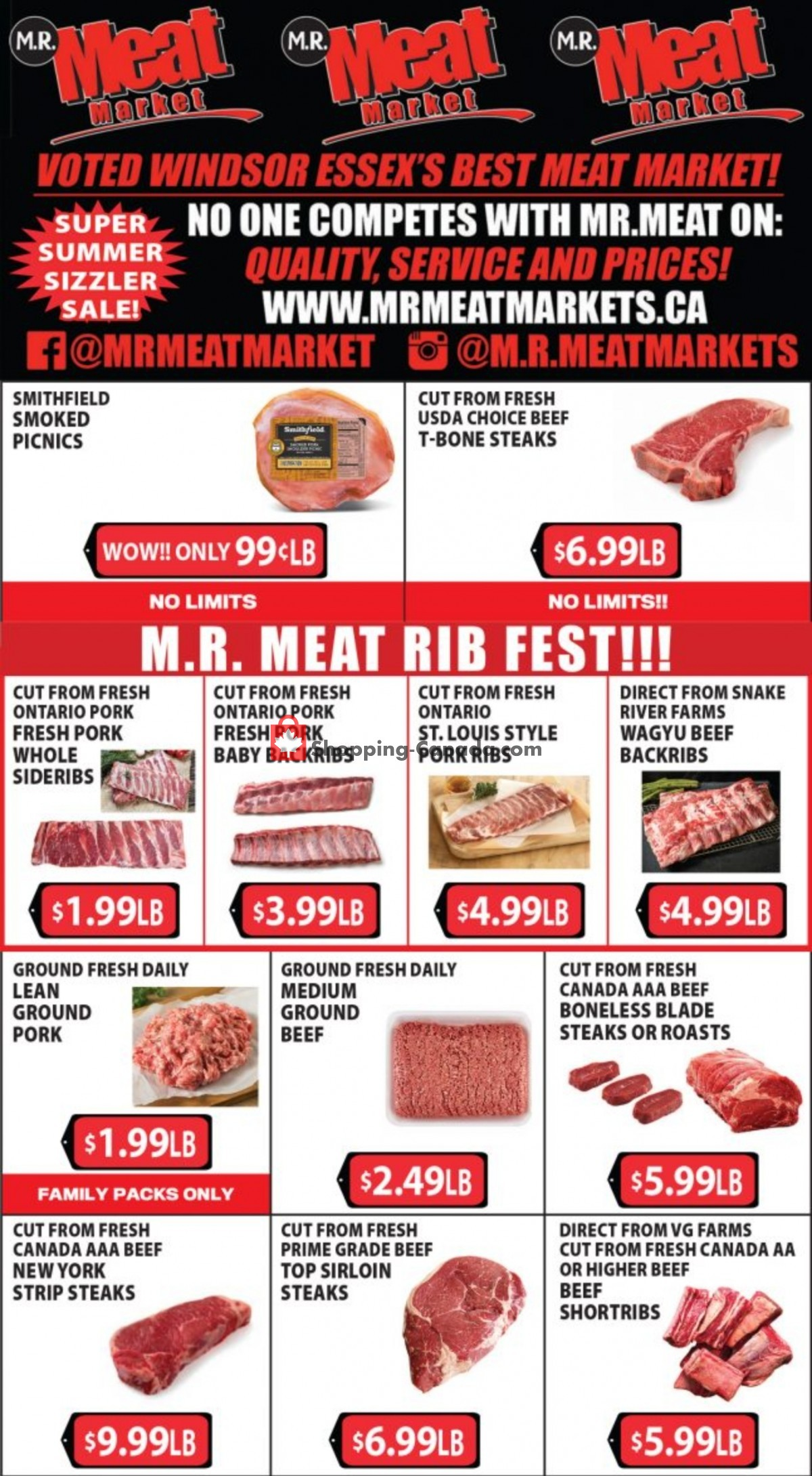 Flyer M.R. Meat Market Canada - from Saturday July 10, 2021 to Saturday July 17, 2021