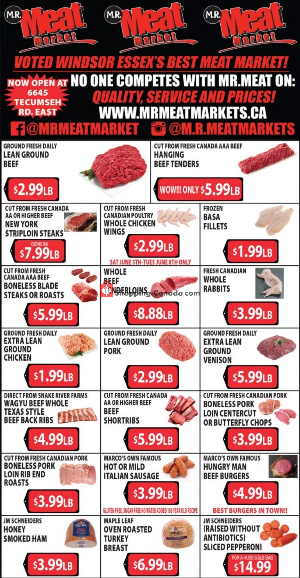 Flyer M.R. Meat Market Canada - from Saturday June 5, 2021 to Saturday June 12, 2021