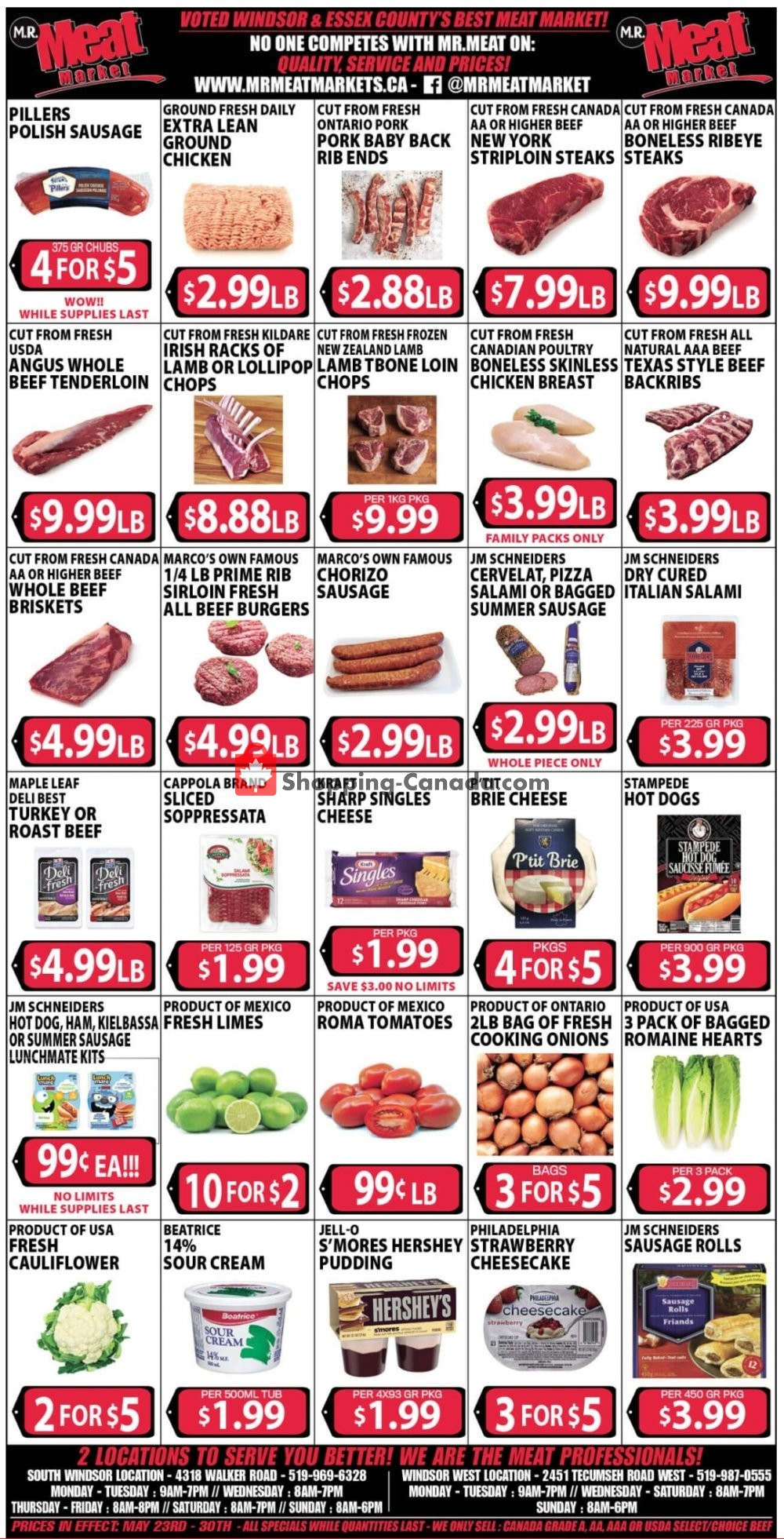 Flyer M.R. Meat Market Canada - from Saturday May 23, 2020 to Saturday May 30, 2020