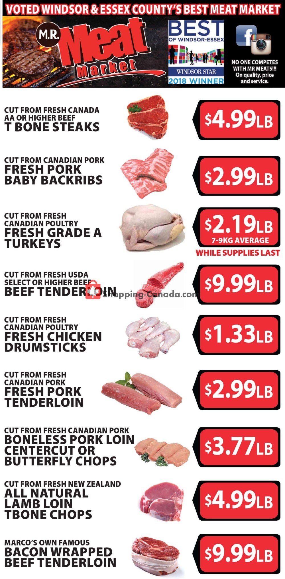 Flyer M.R. Meat Market Canada - from Saturday October 5, 2019 to Saturday October 12, 2019
