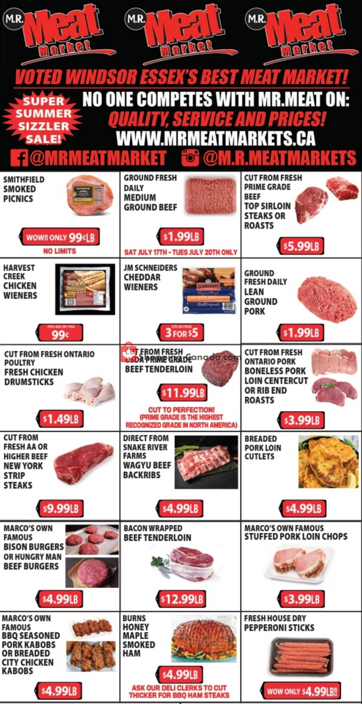 Flyer M.R. Meat Market Canada - from Saturday July 17, 2021 to Saturday July 24, 2021