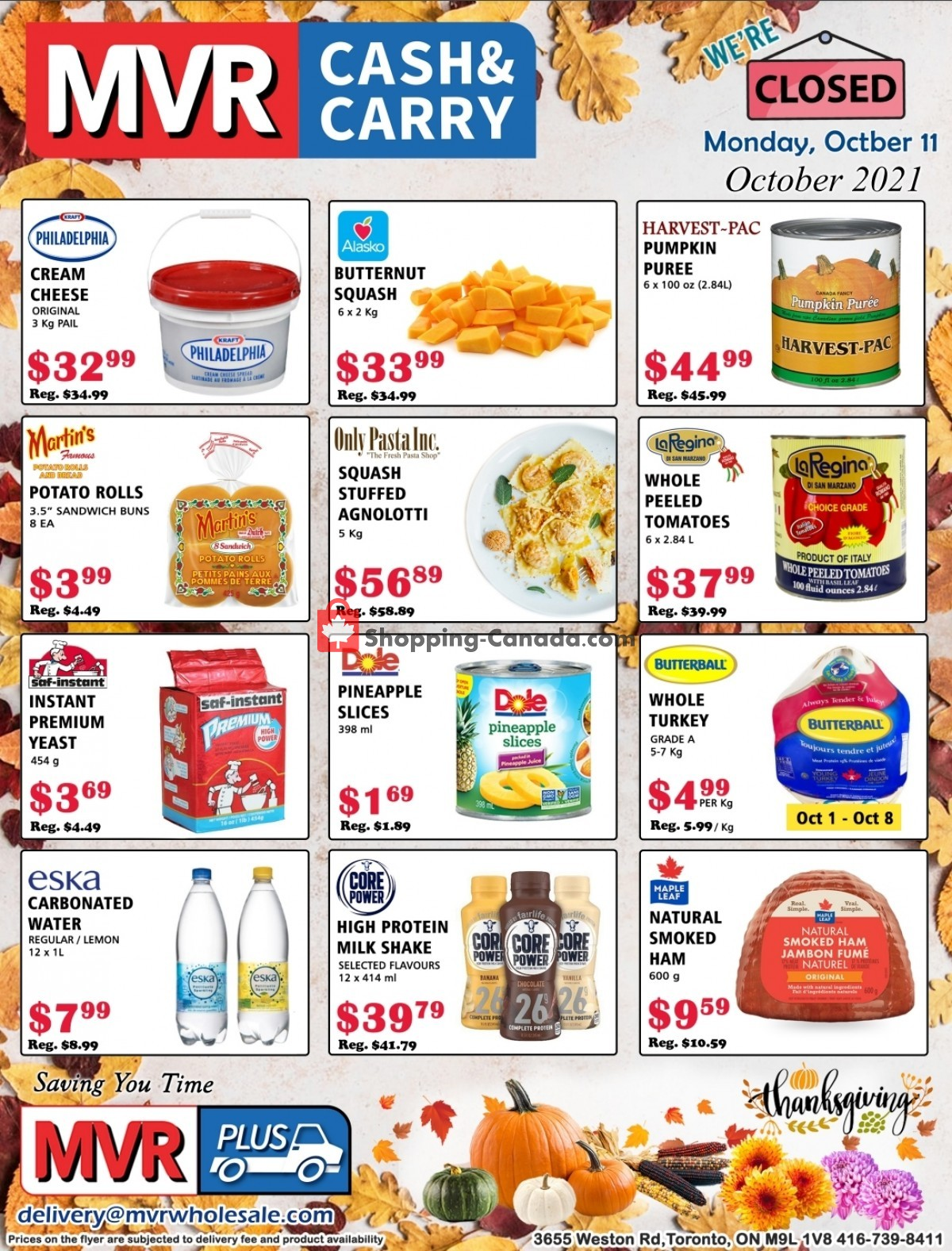 Flyer MVR Cash & Carry Canada - from Friday October 1, 2021 to Sunday October 31, 2021