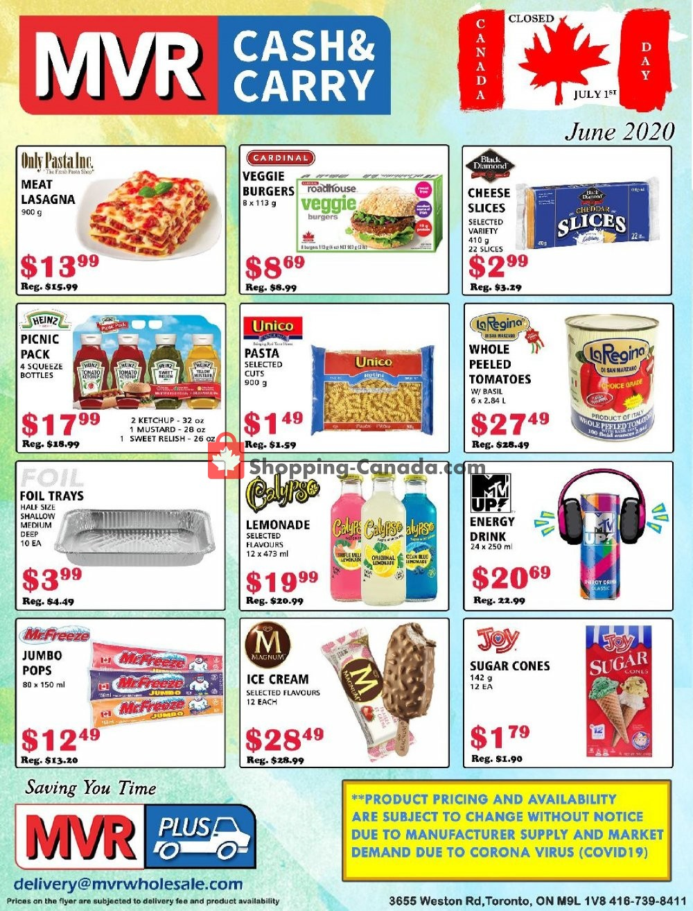 Flyer MVR Cash & Carry Canada - from Monday June 1, 2020 to Tuesday June 30, 2020