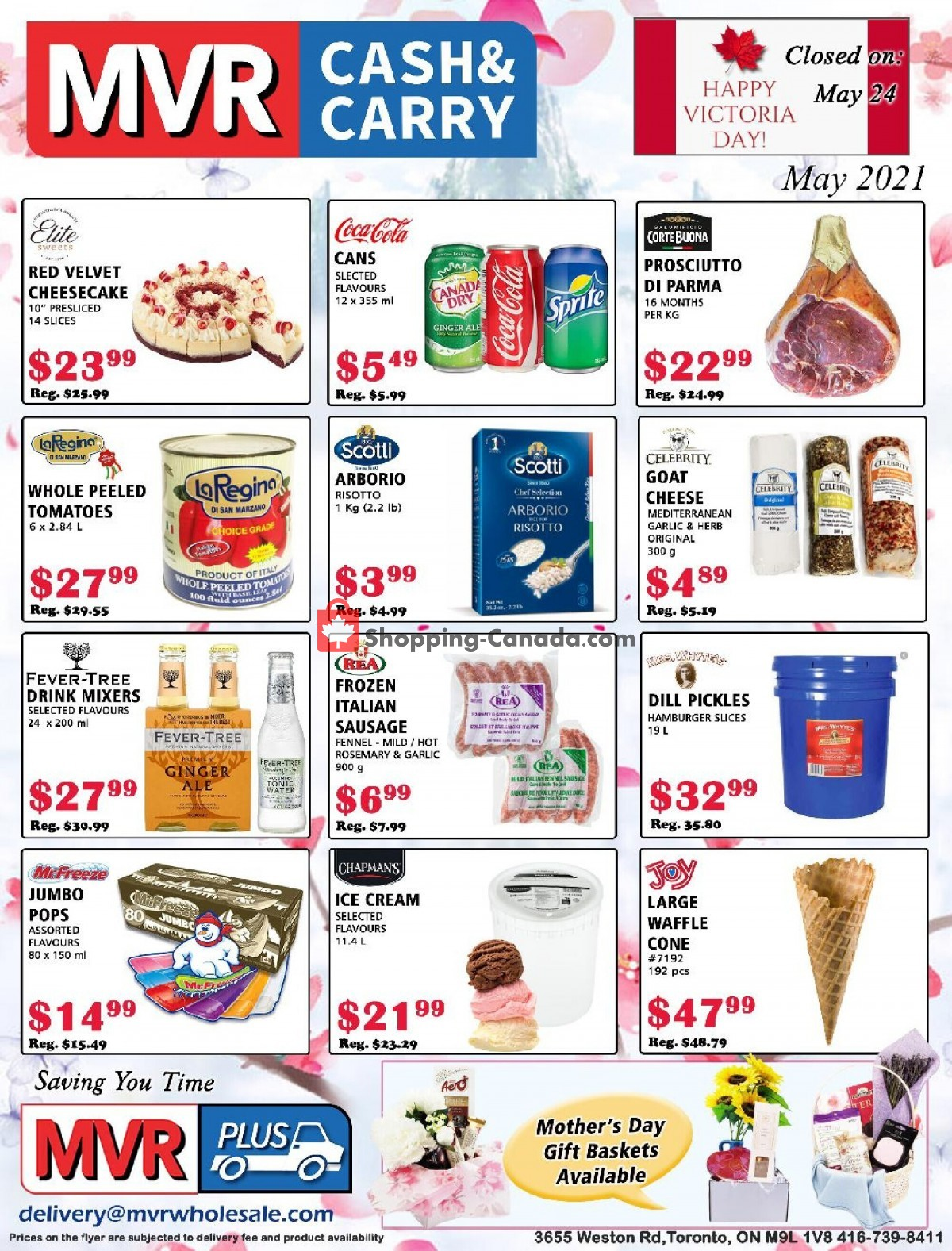 Flyer MVR Cash & Carry Canada - from Saturday May 1, 2021 to Monday May 31, 2021