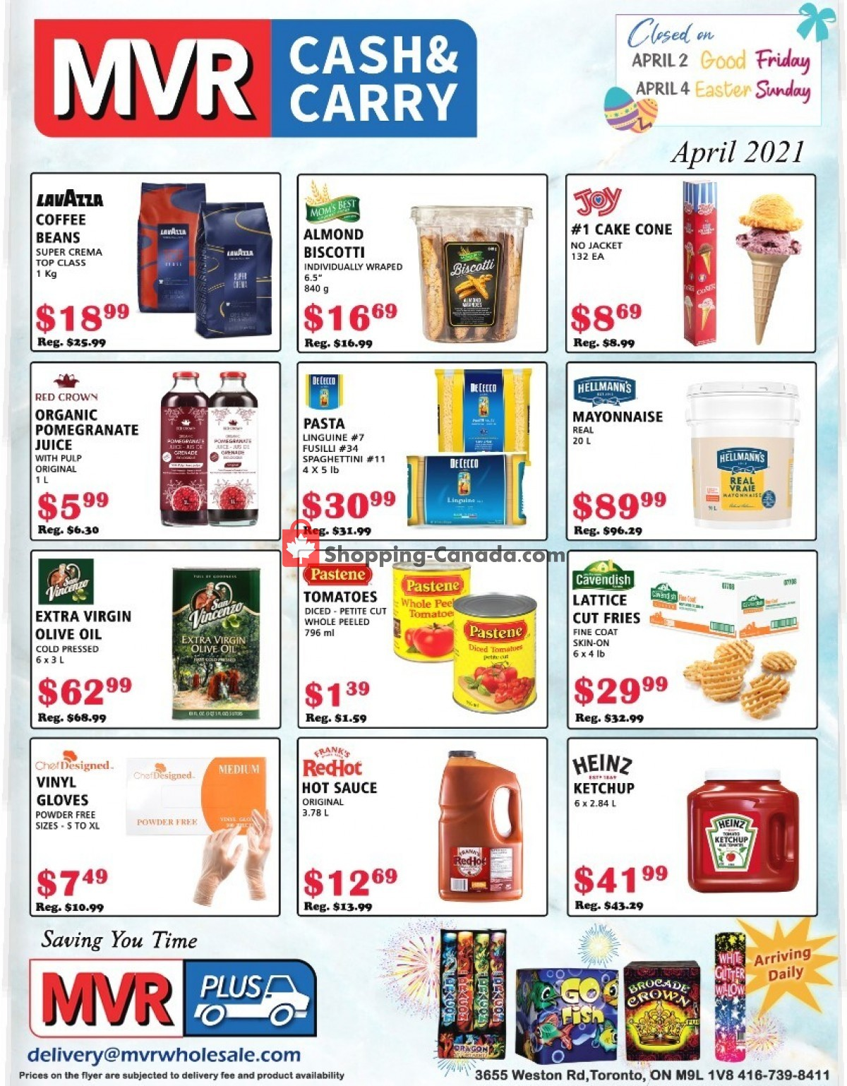 Flyer MVR Cash & Carry Canada - from Thursday April 1, 2021 to Friday April 30, 2021