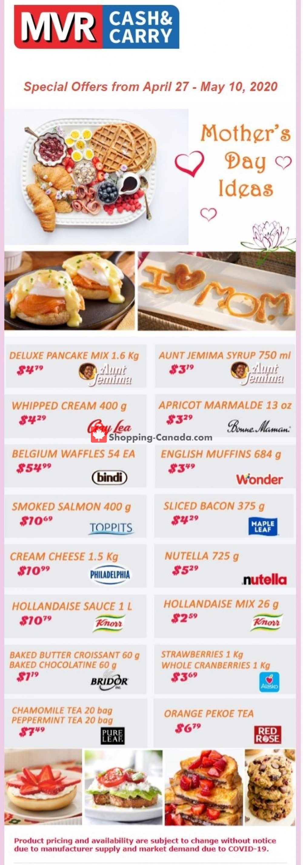 Flyer MVR Cash & Carry Canada - from Monday April 27, 2020 to Sunday May 10, 2020