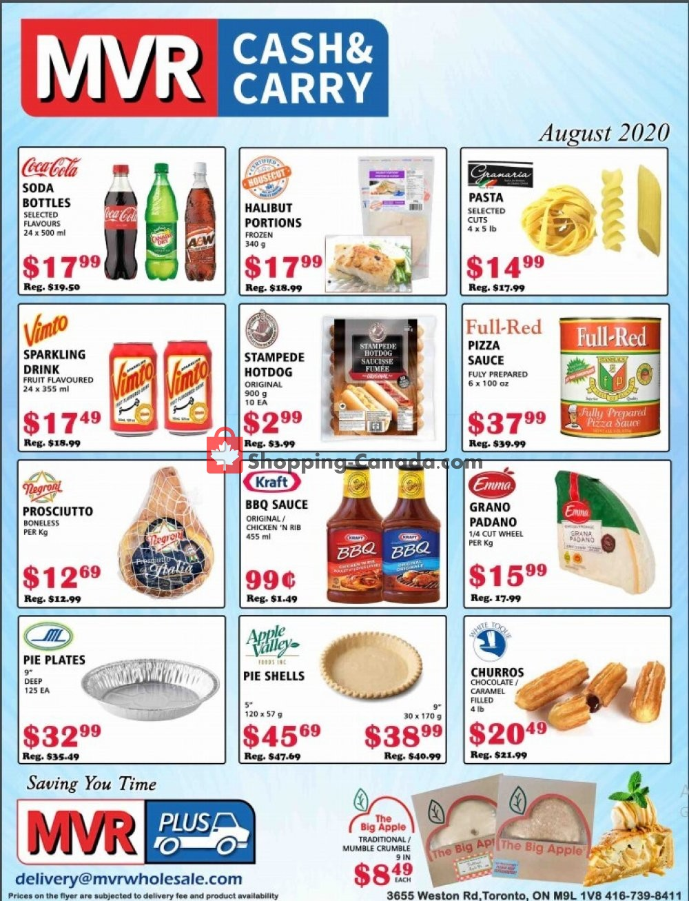 Flyer MVR Cash & Carry Canada - from Saturday August 1, 2020 to Monday August 31, 2020