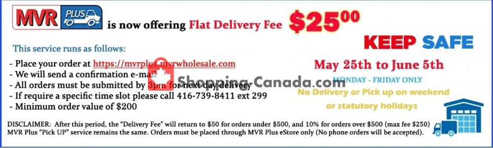 Flyer MVR Cash & Carry Canada - from Monday May 25, 2020 to Friday June 5, 2020