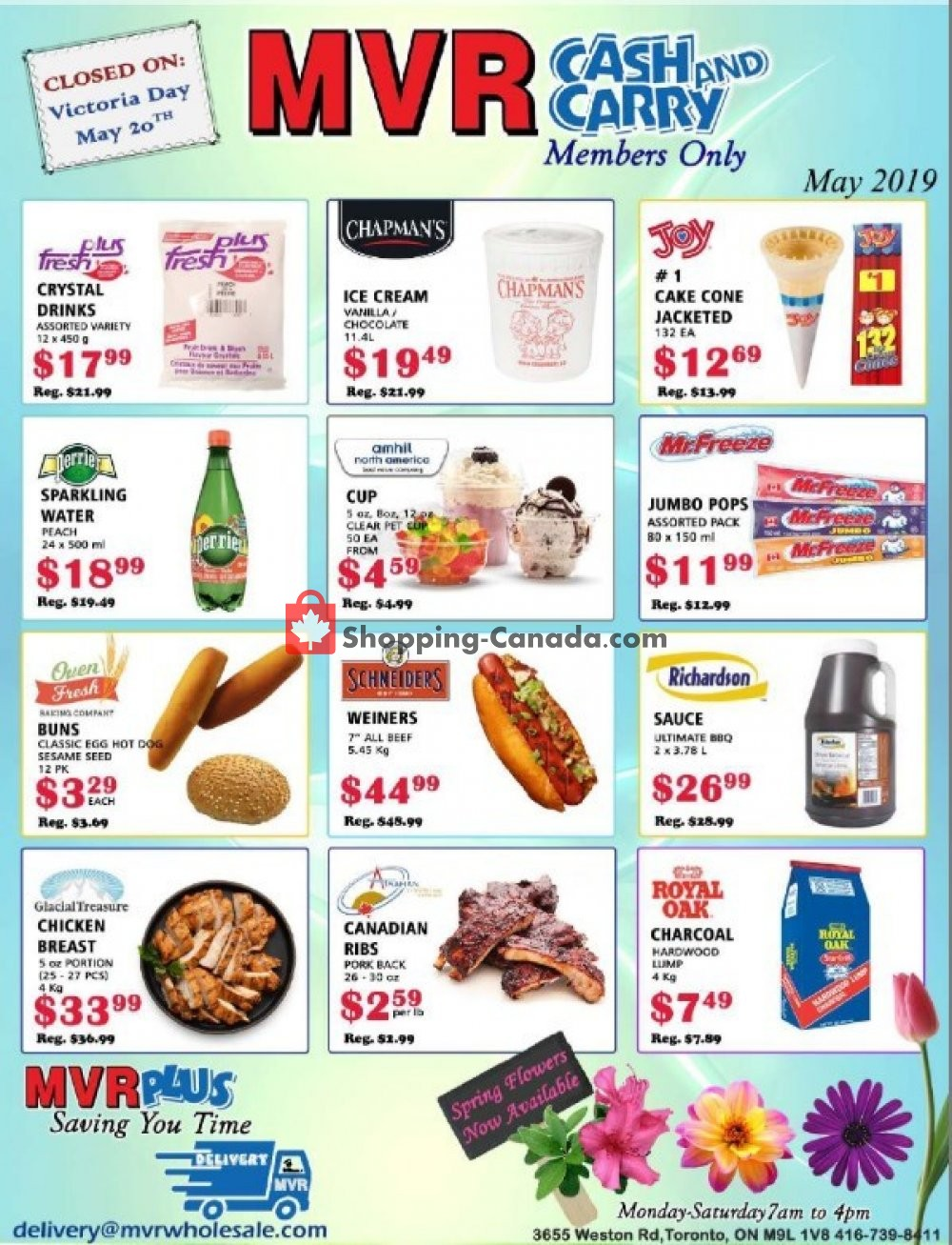 Flyer MVR Cash & Carry Canada - from Wednesday May 8, 2019 to Tuesday May 14, 2019