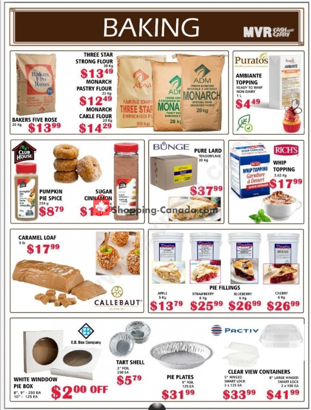 Flyer MVR Cash & Carry Canada - from Tuesday October 1, 2019 to Thursday October 31, 2019