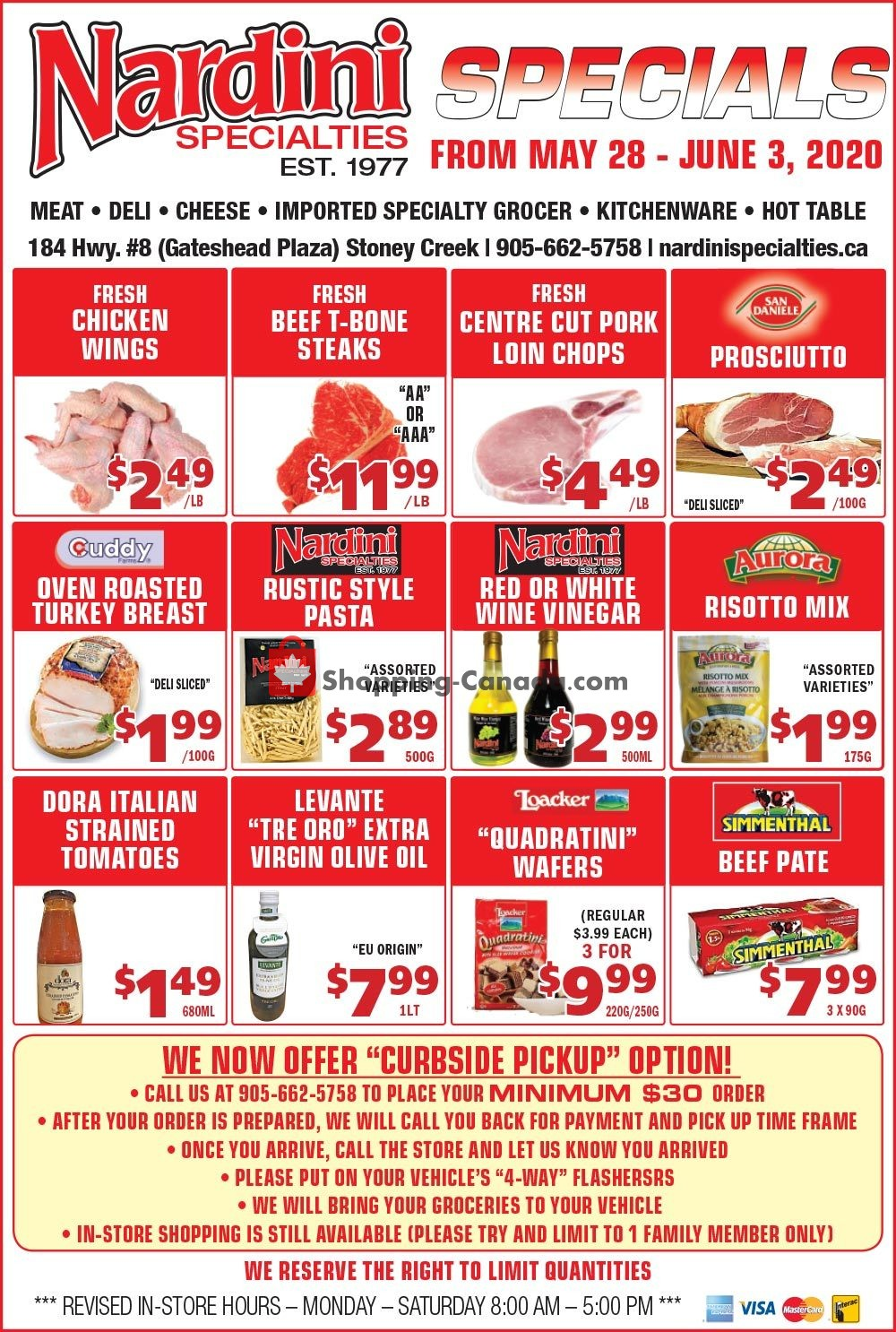 Flyer Nardini Specialties Canada - from Thursday May 28, 2020 to Wednesday June 3, 2020