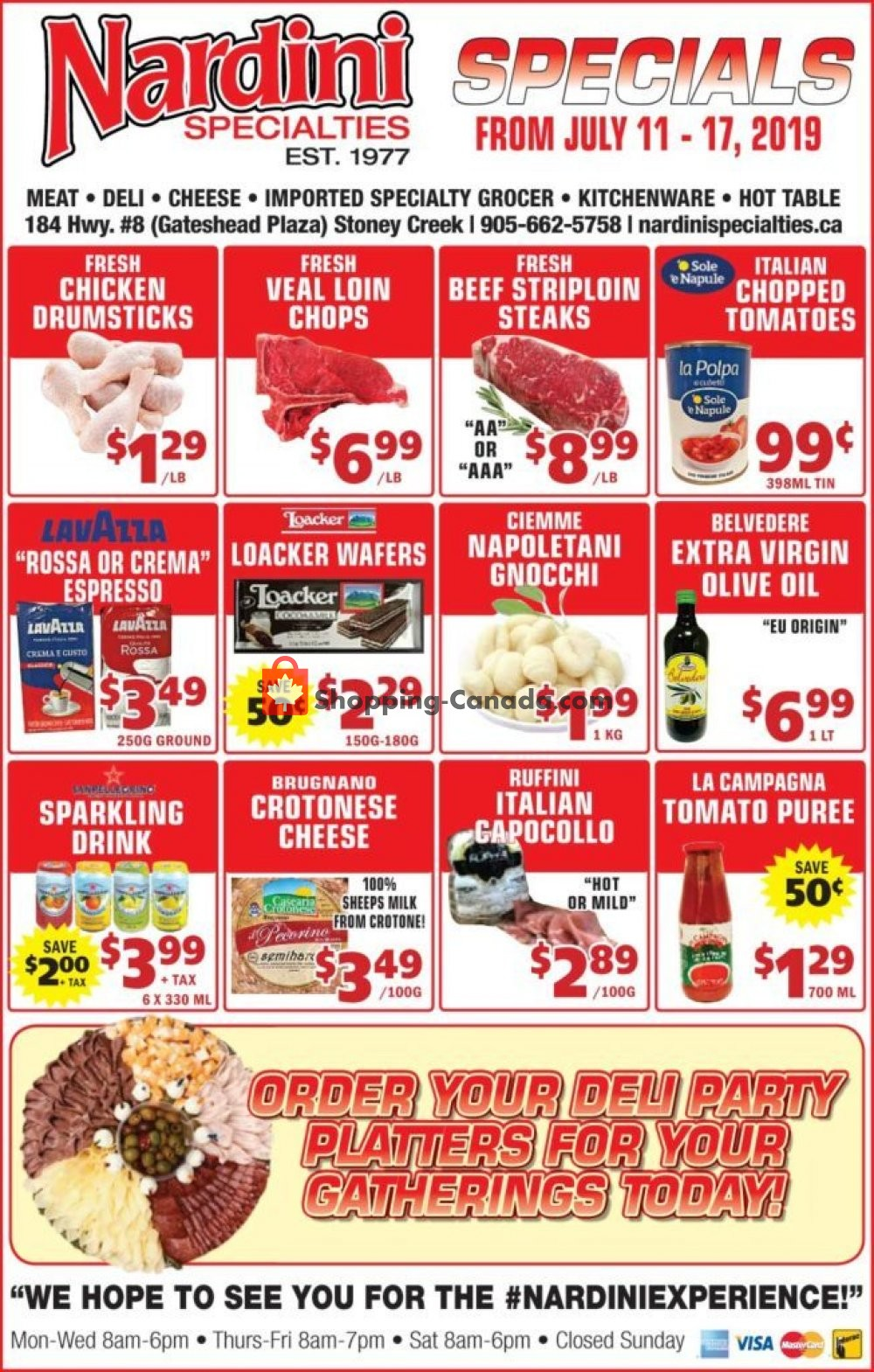 Flyer Nardini Specialties Canada - from Thursday July 11, 2019 to Wednesday July 17, 2019