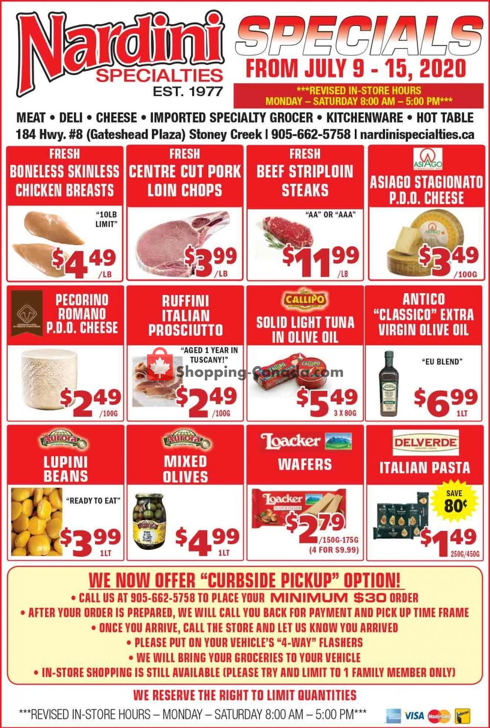 Flyer Nardini Specialties Canada - from Thursday July 9, 2020 to Wednesday July 15, 2020