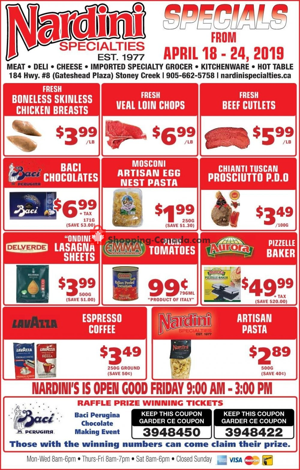 Flyer Nardini Specialties Canada - from Thursday April 18, 2019 to Wednesday April 24, 2019