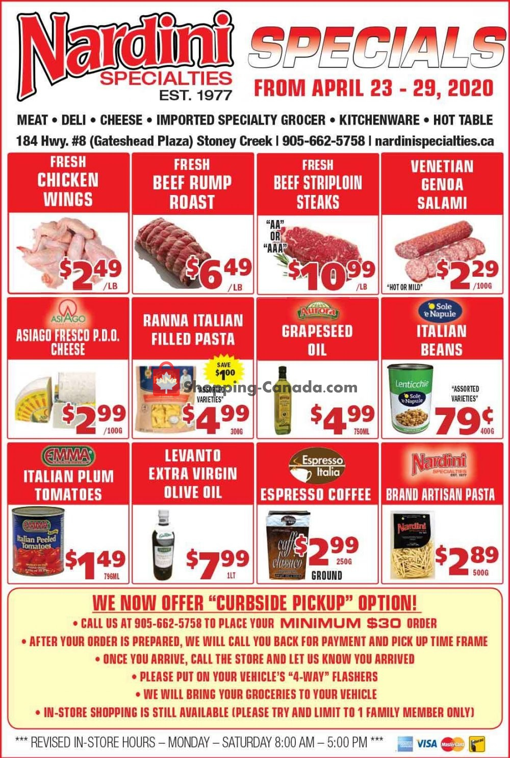 Flyer Nardini Specialties Canada - from Thursday April 23, 2020 to Wednesday April 29, 2020