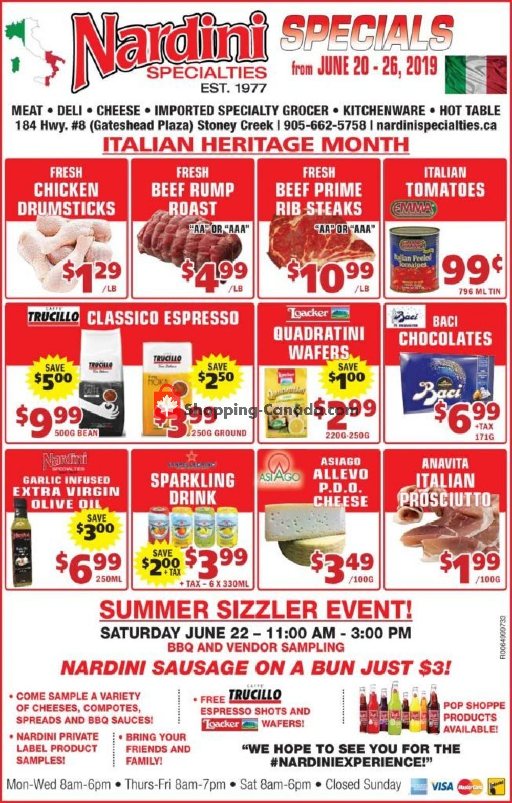 Flyer Nardini Specialties Canada - from Thursday June 20, 2019 to Wednesday June 26, 2019