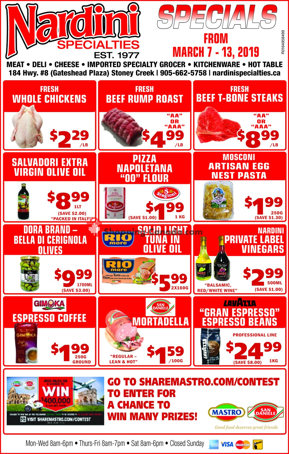 Flyer Nardini Specialties Canada - from Thursday March 7, 2019 to Wednesday March 13, 2019