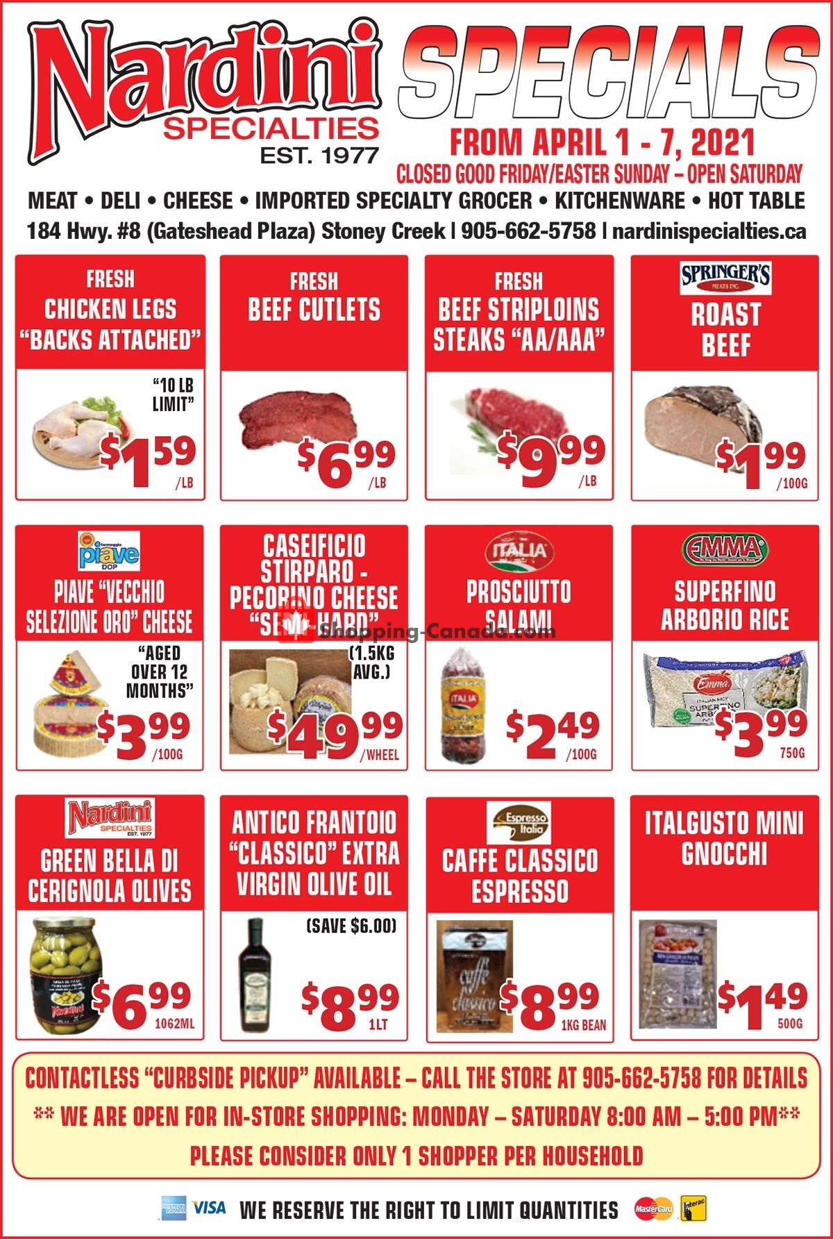 Flyer Nardini Specialties Canada - from Thursday April 1, 2021 to Wednesday April 7, 2021
