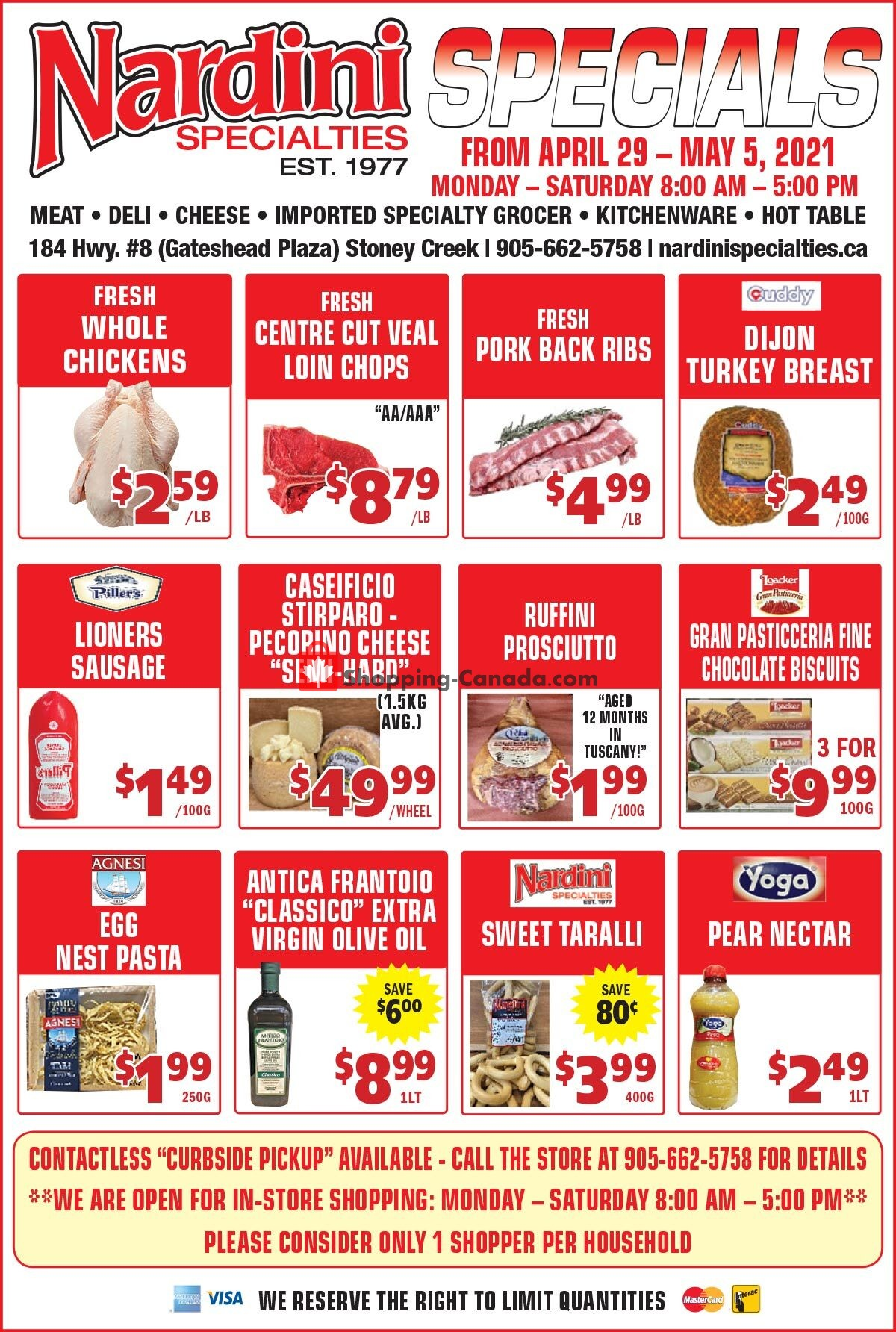 Flyer Nardini Specialties Canada - from Thursday April 29, 2021 to Wednesday May 5, 2021