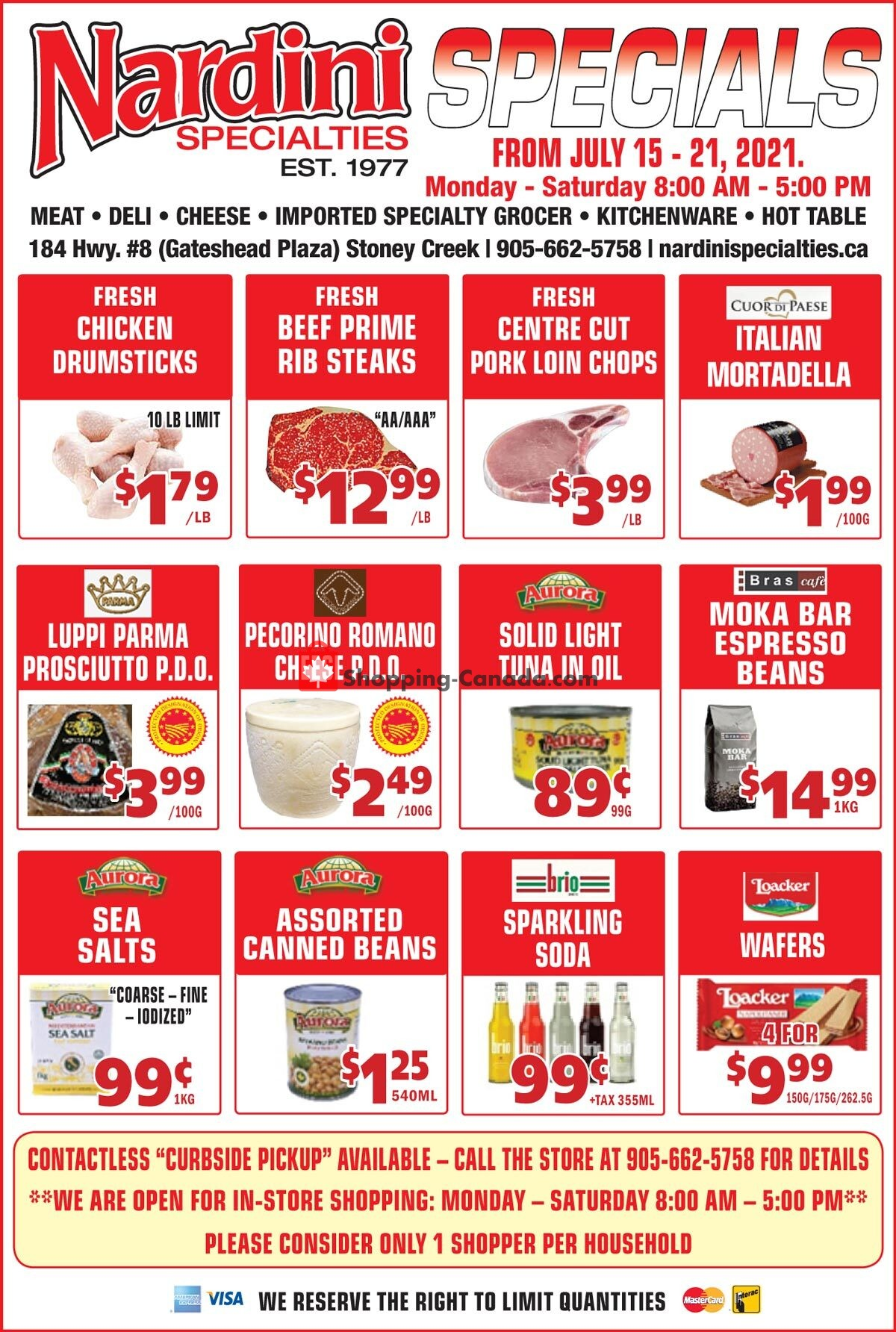 Flyer Nardini Specialties Canada - from Thursday July 15, 2021 to Wednesday July 21, 2021