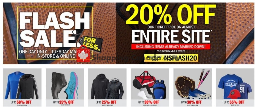 Flyer National Sports Canada - from Tuesday March 12, 2019 to Tuesday March 12, 2019