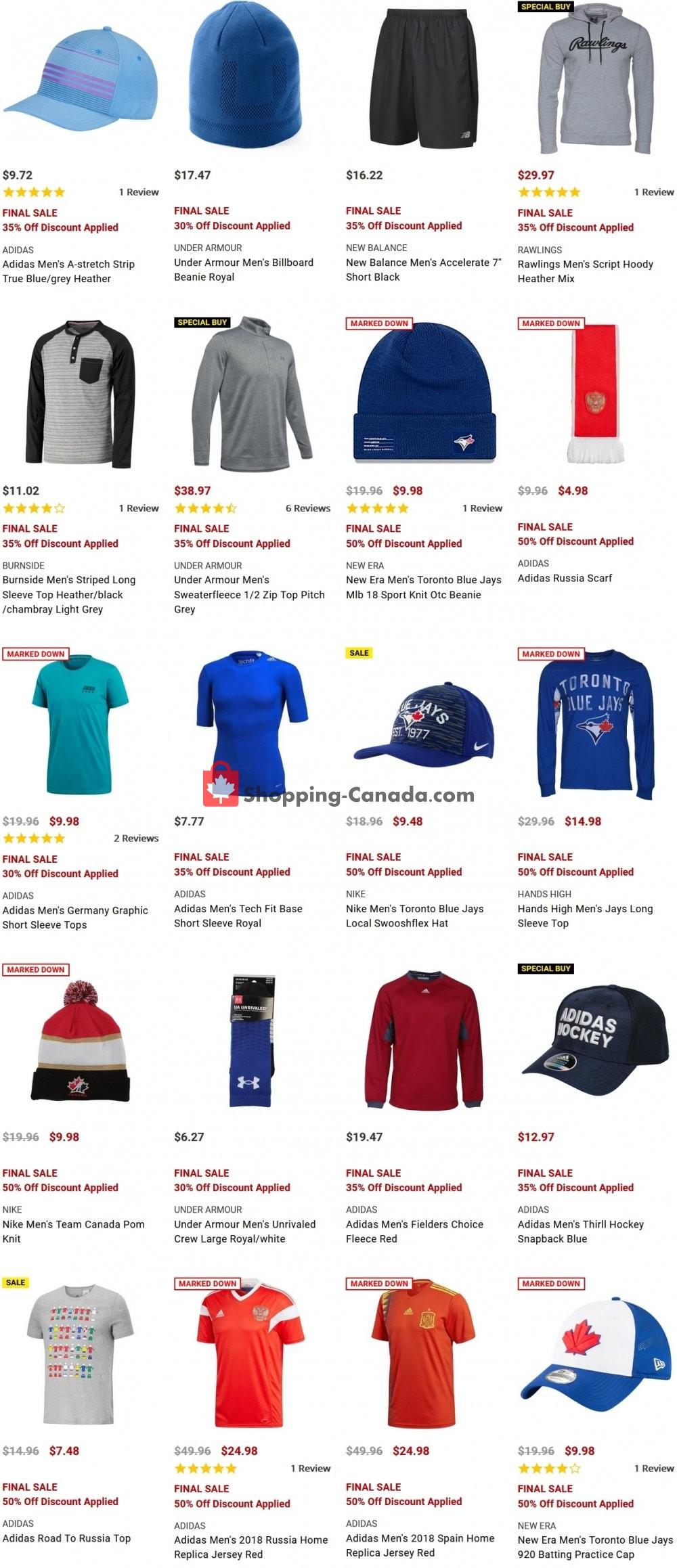 Flyer National Sports Canada - from Monday January 18, 2021 to Sunday January 24, 2021