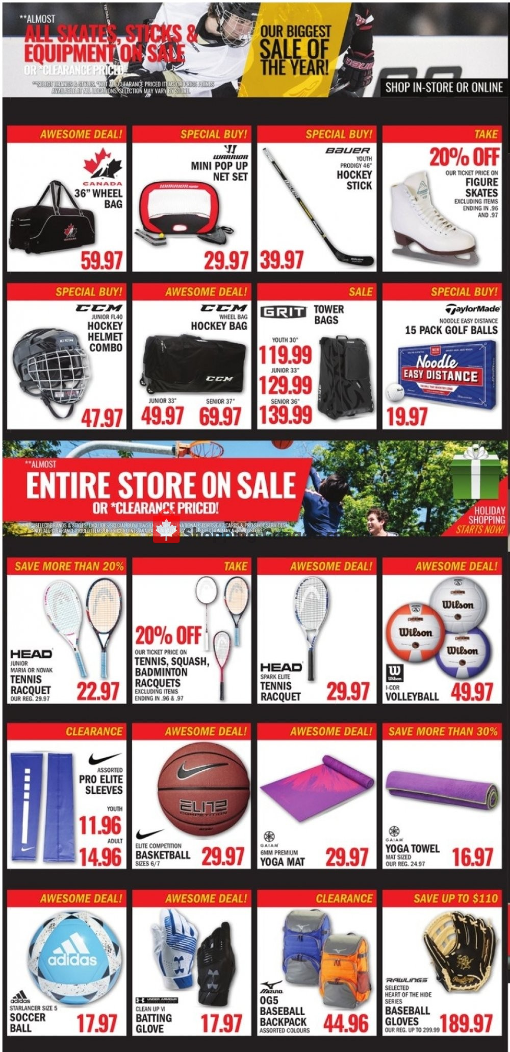 Flyer National Sports Canada - from Friday November 8, 2019 to Thursday November 21, 2019