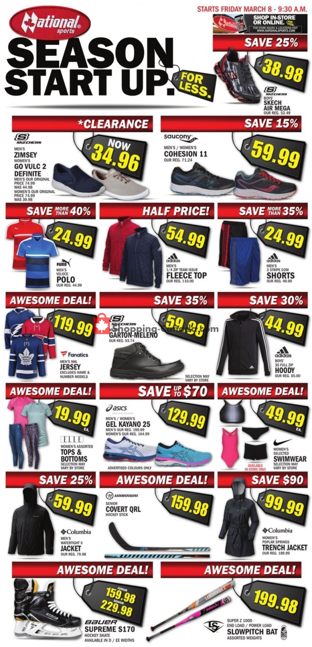 Flyer National Sports Canada - from Friday March 8, 2019 to Thursday March 21, 2019