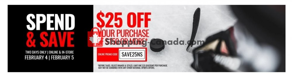 Flyer National Sports Canada - from Tuesday February 4, 2020 to Wednesday February 5, 2020