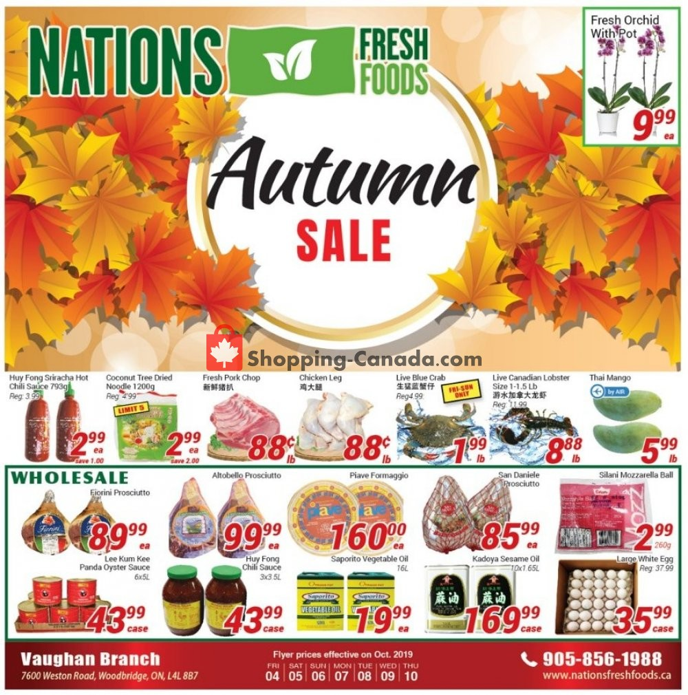 Flyer Nations Fresh Foods Canada - from Friday October 4, 2019 to Thursday October 10, 2019