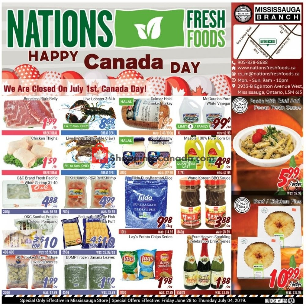 Flyer Nations Fresh Foods Canada - from Friday June 28, 2019 to Thursday July 4, 2019
