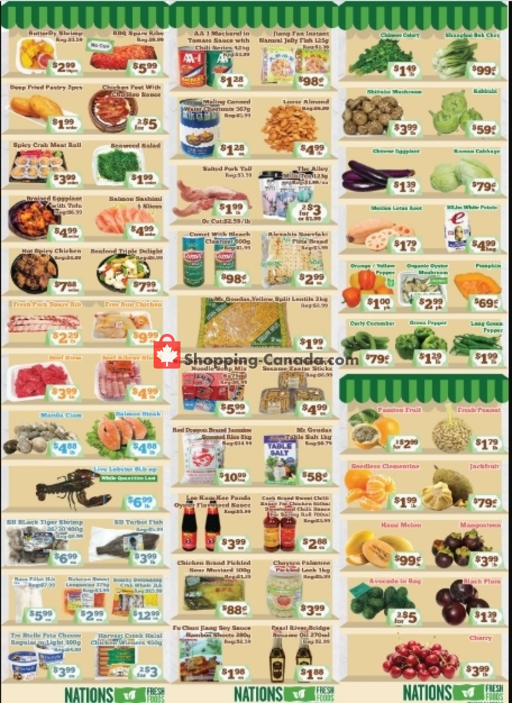 Flyer Nations Fresh Foods Canada - from Friday July 31, 2020 to Thursday August 6, 2020