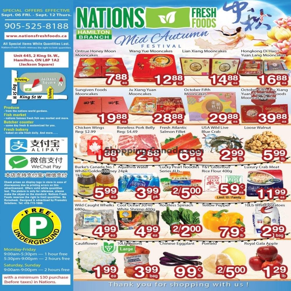 Flyer Nations Fresh Foods Canada - from Friday September 6, 2019 to Thursday September 12, 2019