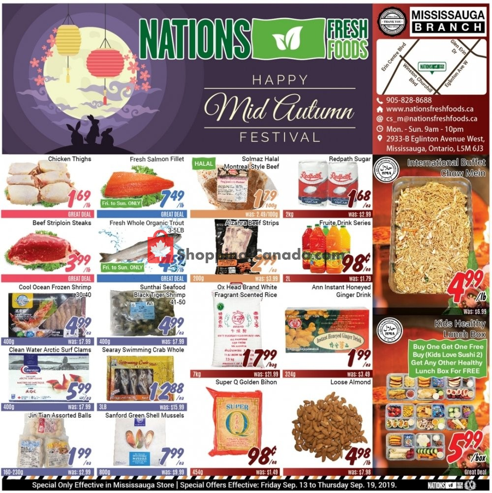 Flyer Nations Fresh Foods Canada - from Friday September 13, 2019 to Thursday September 19, 2019