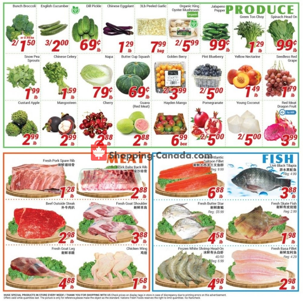 Flyer Nations Fresh Foods Canada - from Friday July 12, 2019 to Thursday July 18, 2019