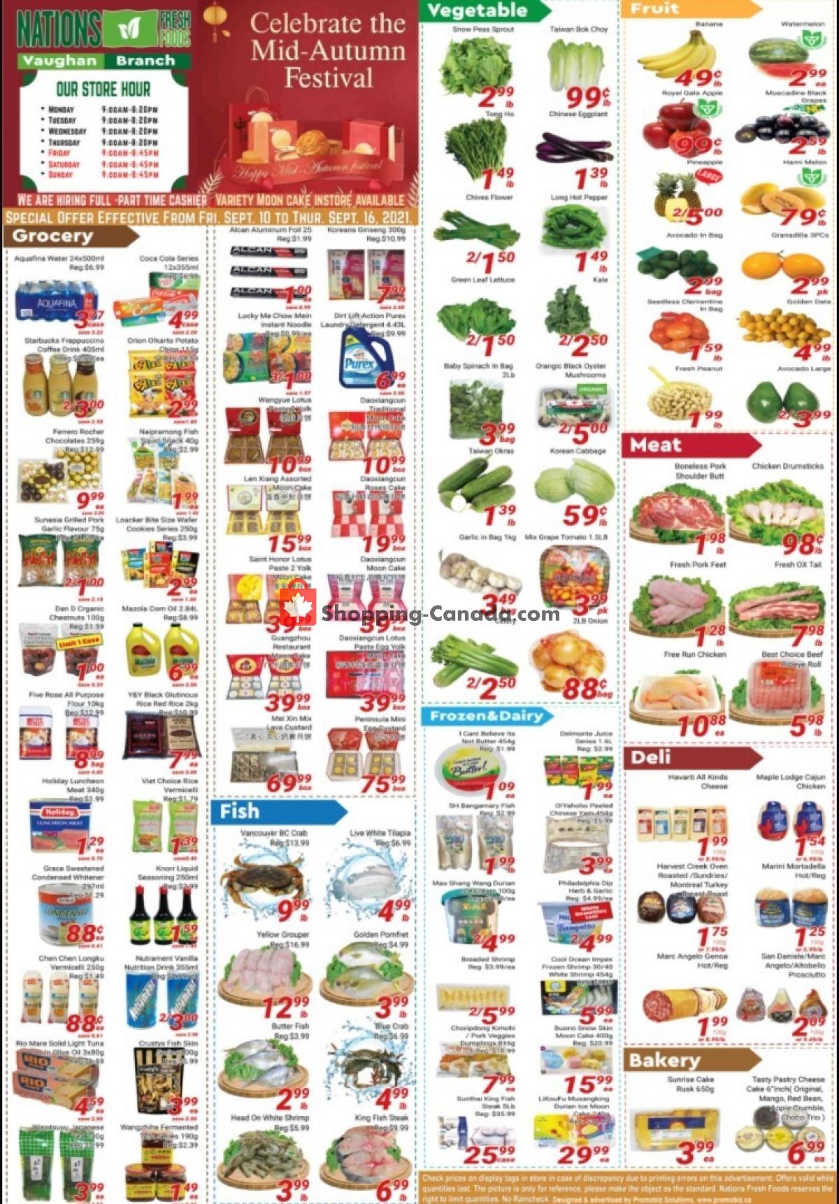 Flyer Nations Fresh Foods Canada - from Friday September 10, 2021 to Thursday September 16, 2021