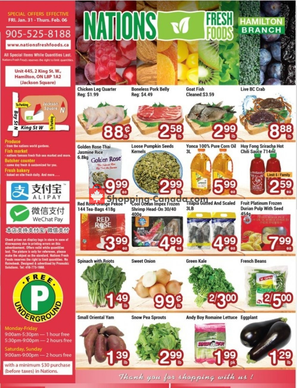 Flyer Nations Fresh Foods Canada - from Friday January 31, 2020 to Thursday February 6, 2020
