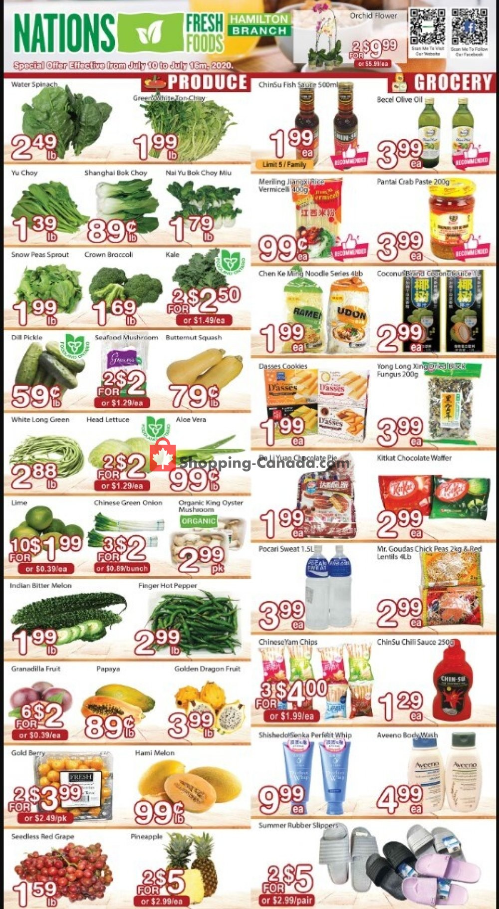 Flyer Nations Fresh Foods Canada - from Friday July 10, 2020 to Thursday July 16, 2020