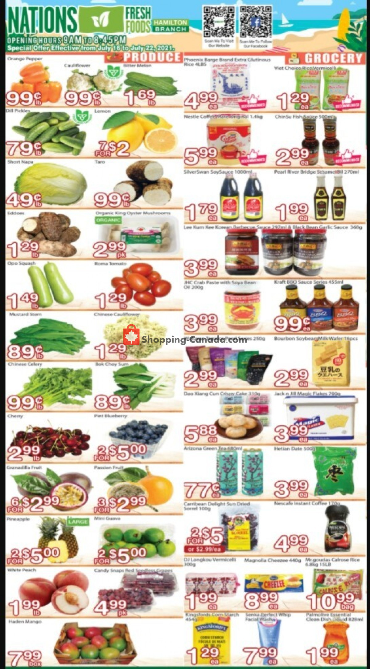 Flyer Nations Fresh Foods Canada - from Friday July 16, 2021 to Thursday July 22, 2021