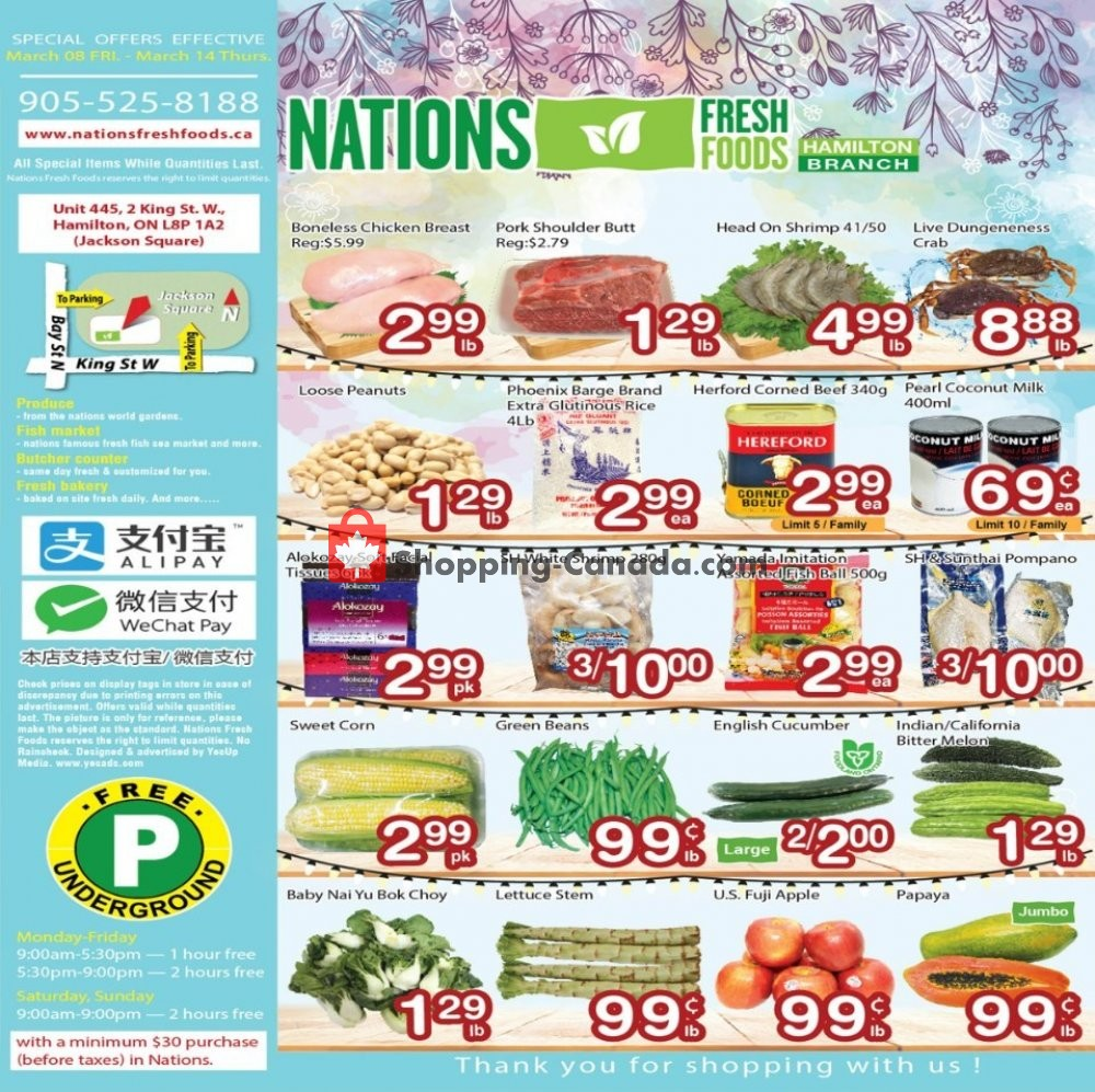 Flyer Nations Fresh Foods Canada - from Friday March 8, 2019 to Thursday March 14, 2019